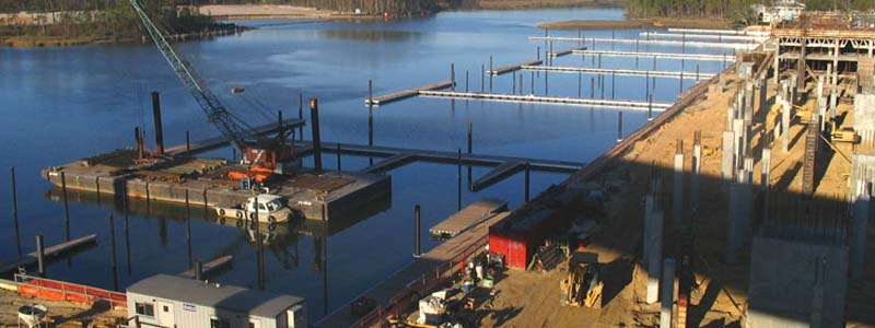Floating Dock and Pile Installation